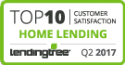 LendingTree Top 10 Customer Satisfaction Q2 2017